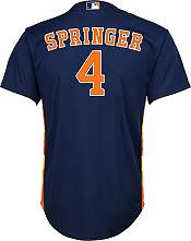 Nike Youth Replica Houston Astros George Springer #4 Cool Base Navy Jersey product image