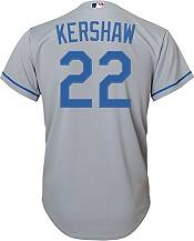 Nike Youth Replica Los Angeles Dodgers Clayton Kershaw #22 Cool Base Gray Jersey product image