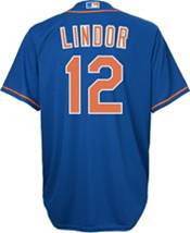 Nike Youth New York Mets Francisco Lindor #12 Cool Base Alternate Replica Jersey product image