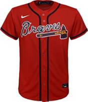 Nike Youth Replica Atlanta Braves Ronald Acuna Jr. #13 Cool Base Red Jersey product image