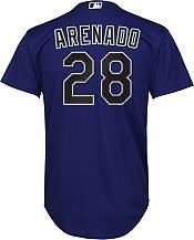 Nike Youth Replica Colorado Rockies Nolan Arenado #28 Cool Base Purple Jersey product image