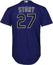 Nike Youth Replica Colorado Rockies Trevor Story #27 Cool Base Purple Jersey product image
