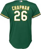 Nike Youth Replica Oakland Athletics Matt Chapman #26 Cool Base Green Jersey product image