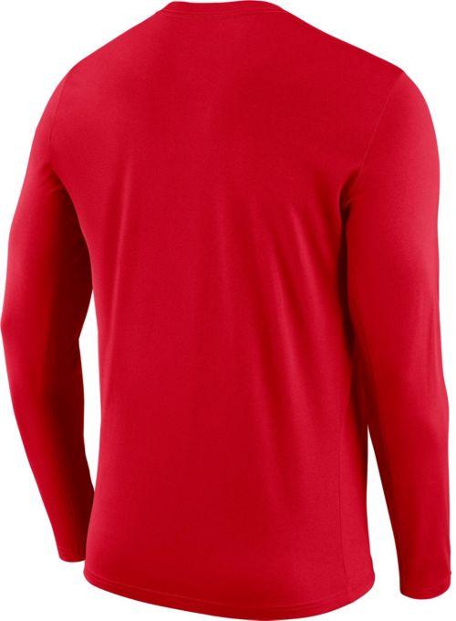 f6f5e2fb7d41 Nike Men s Houston Rockets Dri-FIT Facility Long Sleeve Shirt ...