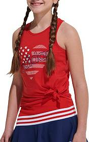 adidas Girls' USA Racerback Tie Front Tank Top product image