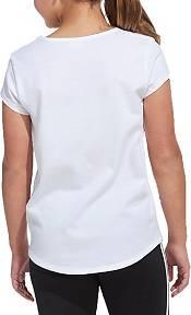 adidas Girl's Scoop Neck Short Sleeve T-Shirt product image