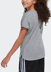 adidas Girls' Slit Dolman Heather Graphic T-Shirt product image