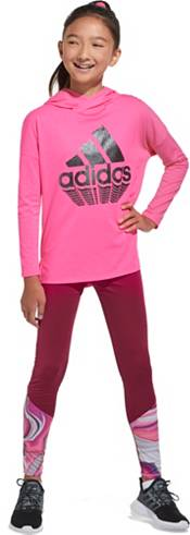 adidas Girls' Logo Hooded Long Sleeve Shirt product image