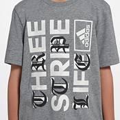adidas Boys' Three Stripe Life Graphic T-Shirt product image