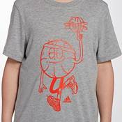 adidas Boys' Heather Lil' Stripe Graphic Basketball T-Shirt product image