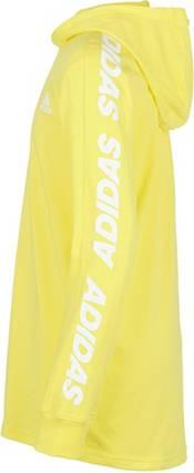adidas Boys' Lightweight Graphic Long Sleeve Hooded Shirt product image