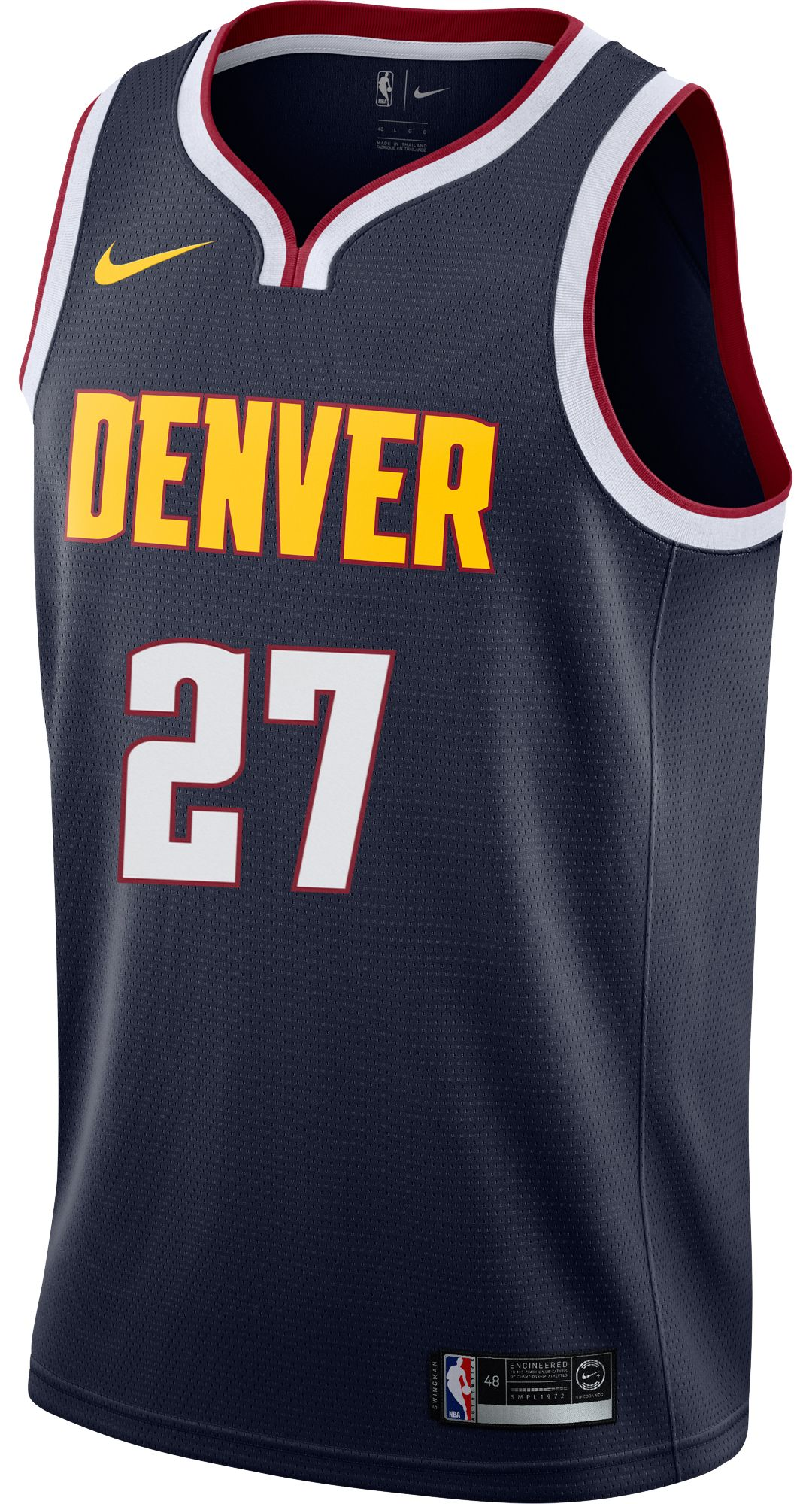low priced 87c43 9e44d Nike Men's Denver Nuggets Jamal Murray #27 Navy Dri-FIT Swingman Jersey
