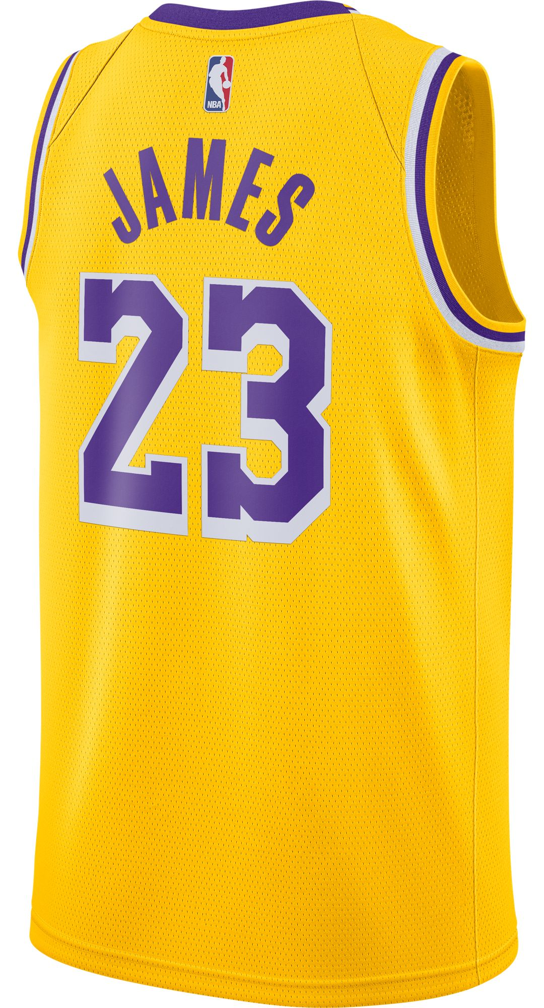 hot sale online 8d603 78a1b Nike Men's Los Angeles Lakers LeBron James #23 Dri-FIT Gold Swingman Jersey