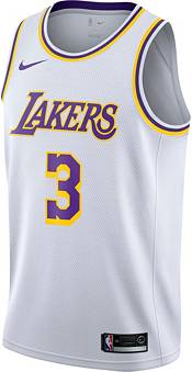 Nike Men's Los Angeles Lakers Anthony Davis #3 White Dri-FIT Swingman Jersey product image
