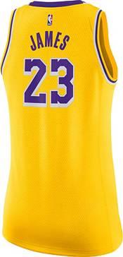 Nike Women's Los Angeles Lakers LeBron James #23 Gold Dri-FIT Swingman Jersey product image