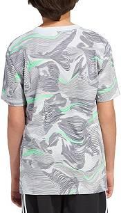 adidas Boys' Short Sleeve Warped Camo Allover Print T-Shirt product image