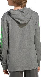 adidas Boys' Long Sleeve Adi Warp Heather Hooded T-Shirt product image