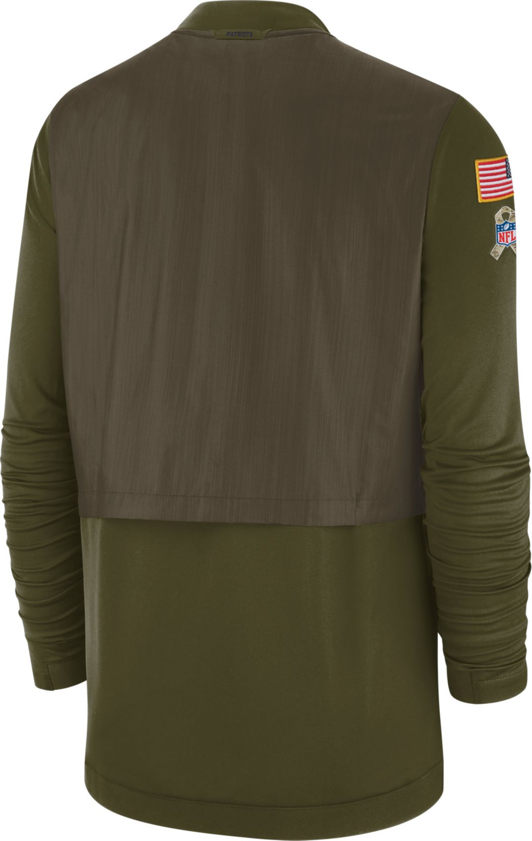 new styles d250c 1b191 Nike Men's Salute to Service New England Patriots Hybrid Full-Zip Jacket