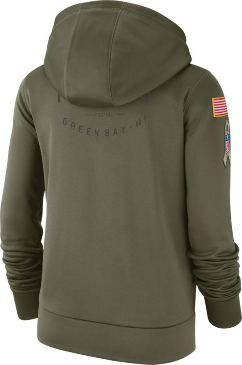 c9c180c3374 Nike Women s Salute to Service Green Bay Packers Therma-FIT Performance  Hoodie