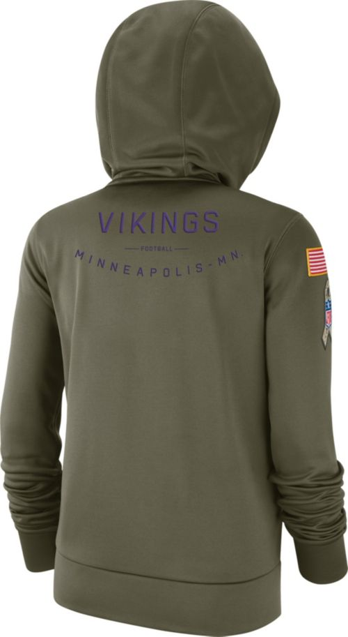Nike Women s Salute to Service Minnesota Vikings Therma-FIT Performance  Hoodie. noImageFound. Previous. 1. 2. 3 fef48ef76