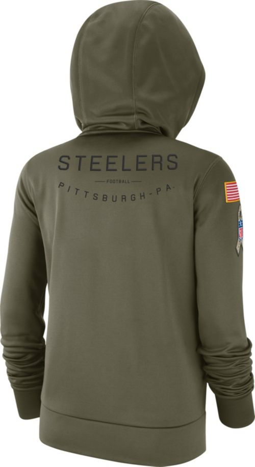 9fdb84aaa Nike Women s Salute to Service Pittsburgh Steelers Therma-FIT Performance  Hoodie. noImageFound. Previous. 1. 2. 3