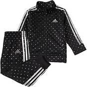 adidas Infant Girls' Dot Tricot Jacket and Pants Track Set product image