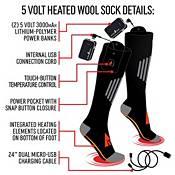 ActionHeat Adult 5V Wool Battery Heated Socks product image
