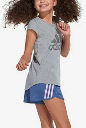 adidas Girls' 3 Stripe Mesh Shorts product image