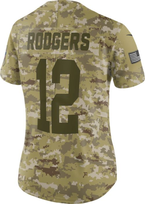 fbcd3896a Nike Women's Salute to Service Green Bay Packers Aaron Rodgers #12  Camouflage Limited Jersey. noImageFound. Previous. 1. 2. 3
