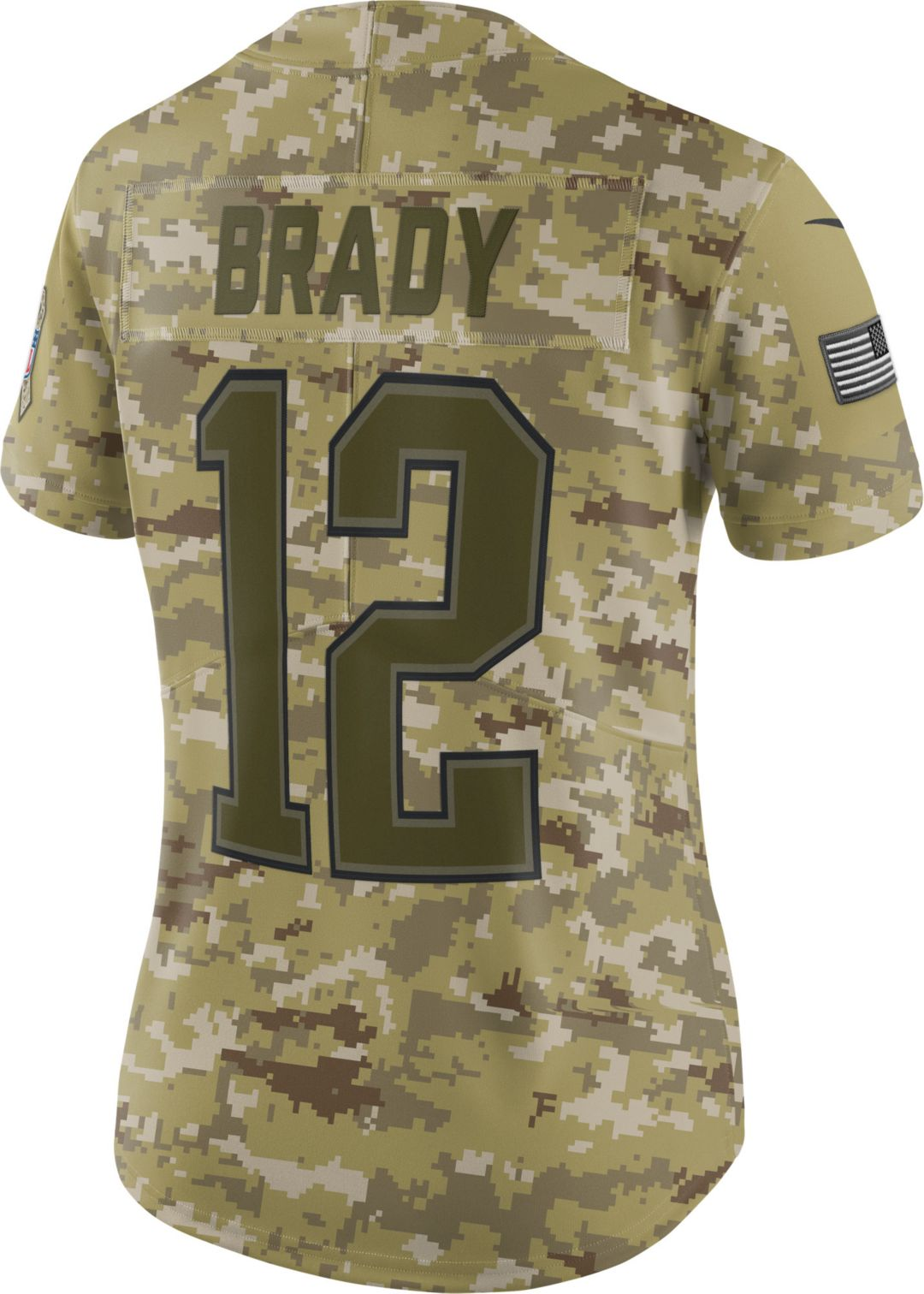 c75597a5 Nike Women's Salute to Service New England Patriots Tom Brady #12  Camouflage Limited Jersey. noImageFound. Previous. 1. 2. 3