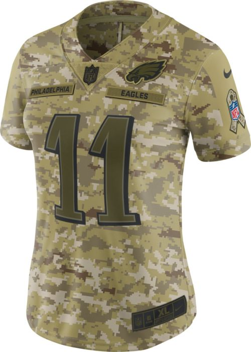 Nike Women s Salute to Service Philadelphia Eagles Carson Wentz  11  Camouflage Limited Jersey 5c34e3af2
