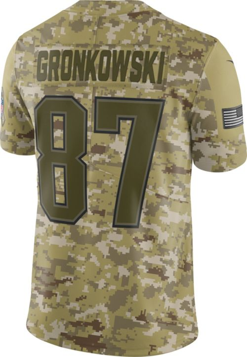 Nike Men s Salute to Service New England Patriots Rob Gronkowski  87  Camouflage Limited Jersey d3f7b5ccd