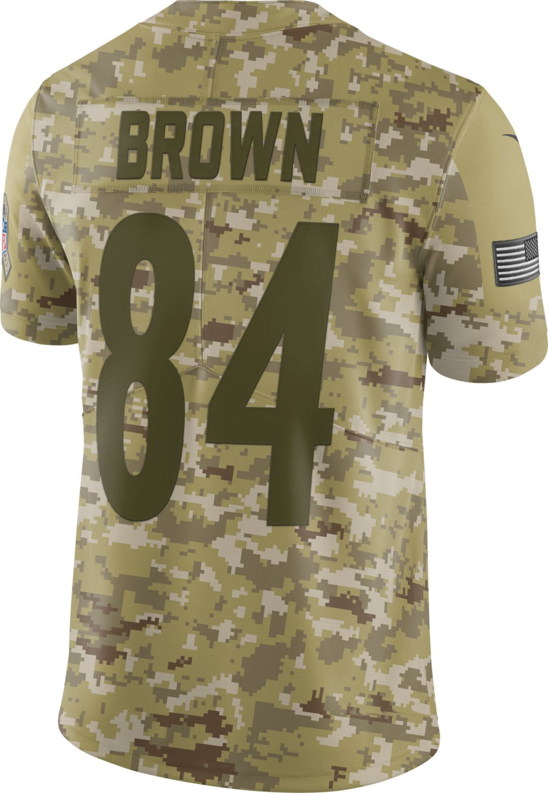 1f629f173fd Nike Men's Salute to Service Pittsburgh Steelers Antonio Brown #84 Limited  Camouflage Jersey 3