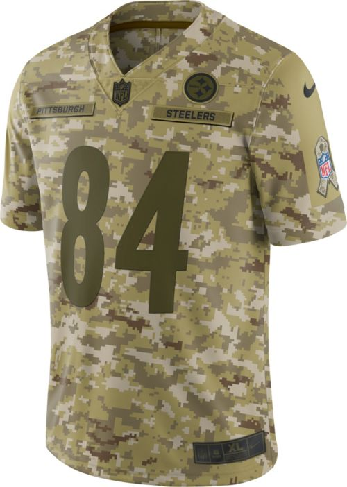 387dd913b92 Nike Men s Salute to Service Pittsburgh Steelers Antonio Brown  84  Camouflage Limited Jersey