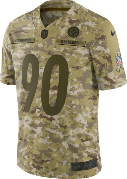 e2c933d03 Nike Men s Salute to Service Pittsburgh Steelers T.J. Watt  90 Camouflage  Limited Jersey