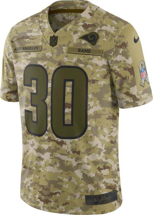 1ad699d48 Nike Men s Salute to Service Los Angeles Rams Todd Gurley  30 Camouflage  Limited Jersey. noImageFound. Previous. 1. 2