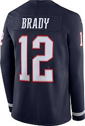 Nike Men's New England Patriots Tom Brady #12 Therma-FIT Long Sleeve Jersey product image