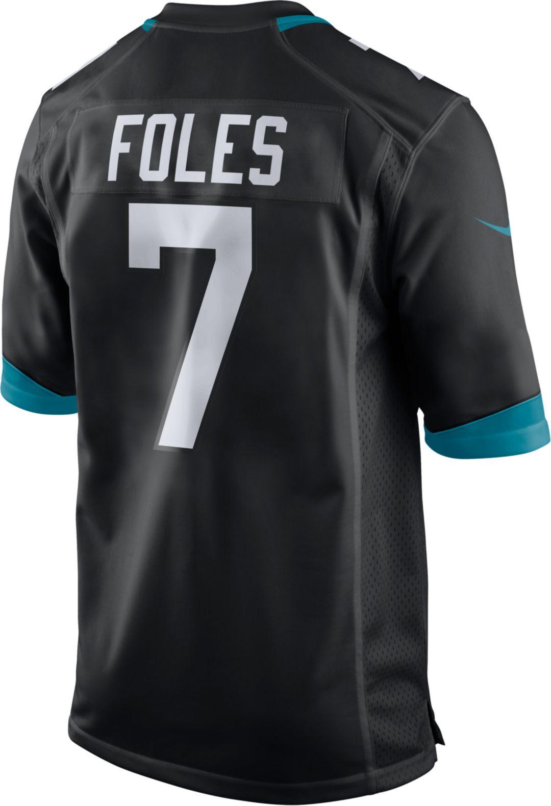 outlet store de870 1d5bb Nike Men's Home Game Jersey Jacksonville Jaguars Nick Foles #7