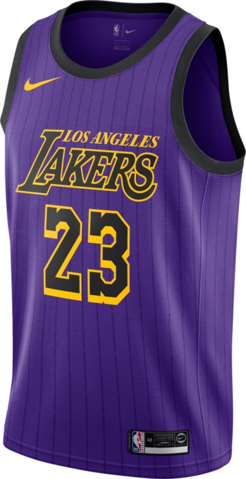 1d024856e1e Nike Men s Los Angeles Lakers LeBron James Dri-FIT City Edition Swingman  Jersey