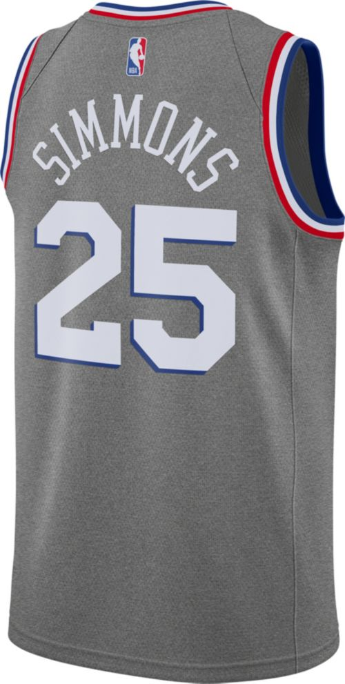 Nike Men s Philadelphia 76ers Ben Simmons Dri-FIT City Edition Swingman  Jersey. noImageFound. Previous. 1. 2. 3 f4b42e598