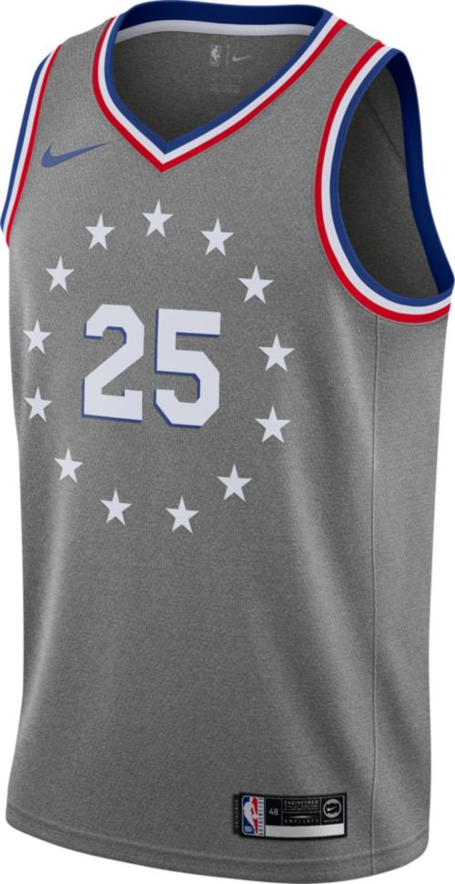 424bf068a Nike Men s Philadelphia 76ers Ben Simmons Dri-FIT City Edition Swingman  Jersey