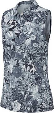 Nike Women's Dri-FIT Floral Printed Sleeveless Golf Polo product image