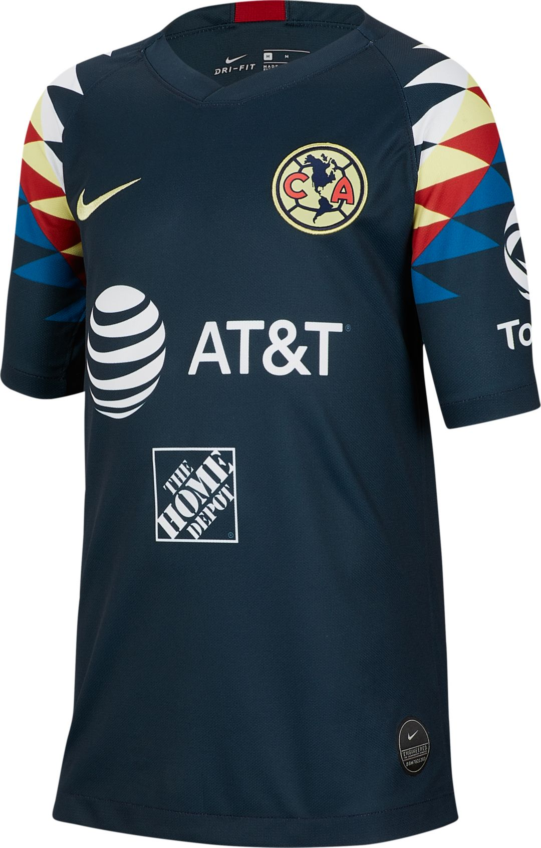 best sneakers b62b4 99705 Nike Youth Club America '19 Breathe Stadium Away Replica Jersey
