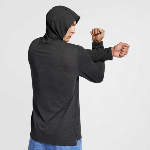 dd2123331 Nike Men's Hyper Dry Hooded Long Sleeve Tee. noImageFound. Previous. 1. 2