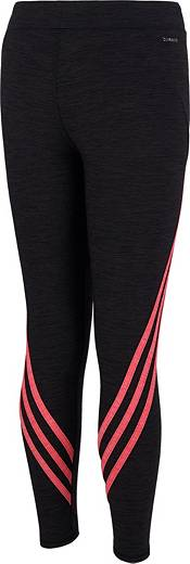 adidas Girls' climalite Wrap Stripe Tights product image