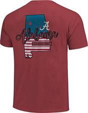Image One Men's Alabama Crimson Tide Crimson Americana State T-Shirt product image