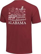 Image One Men's Alabama Crimson Tide Crimson Americana Fireworks T-Shirt product image