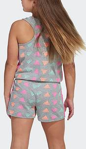 adidas Girls' Brand Love Print Sleeveless Romper product image