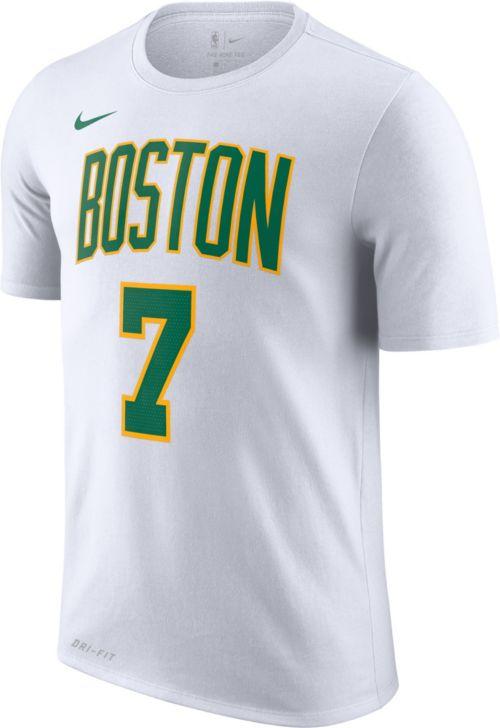 1668def0156 Nike Men s Boston Celtics Jaylen Brown Dri-FIT City Edition T-Shirt ...