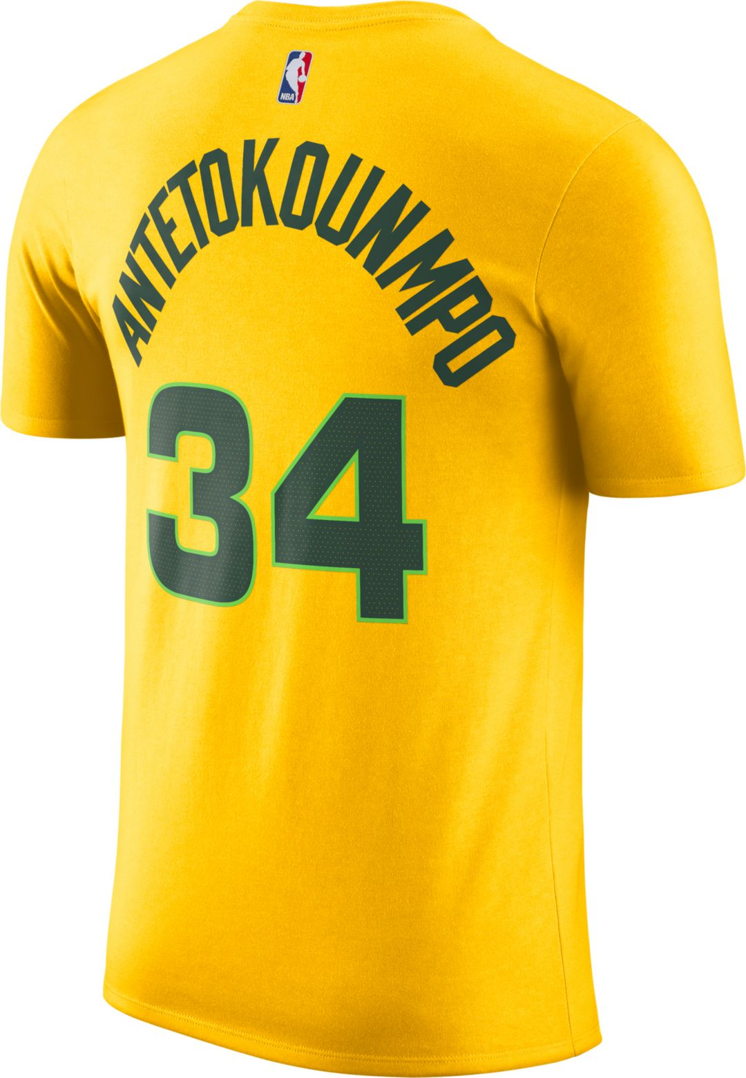 sports shoes 09983 8bfb8 Nike Men's Milwaukee Bucks Giannis Antetokounmpo Dri-FIT City Edition  T-Shirt